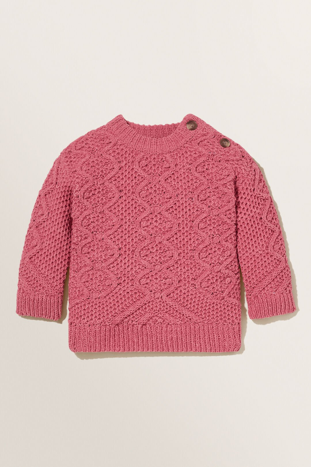 Cable Knit  BERRY  hi-res
