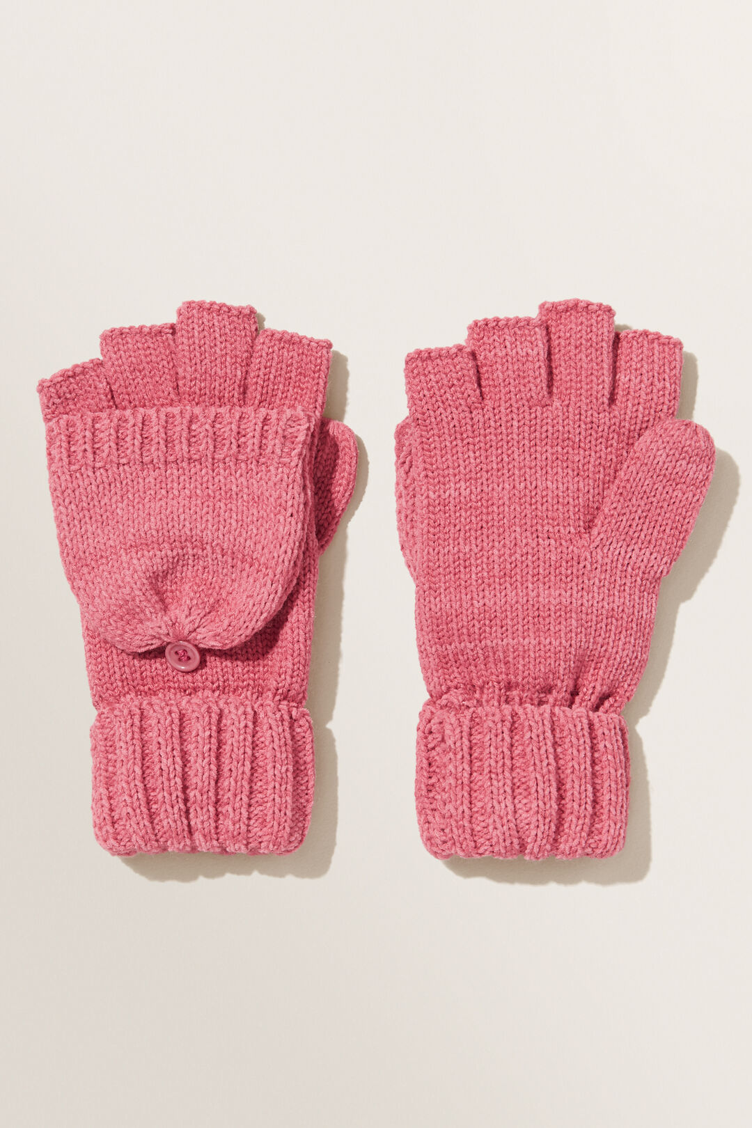 Chenille Mittens  BERRY  hi-res