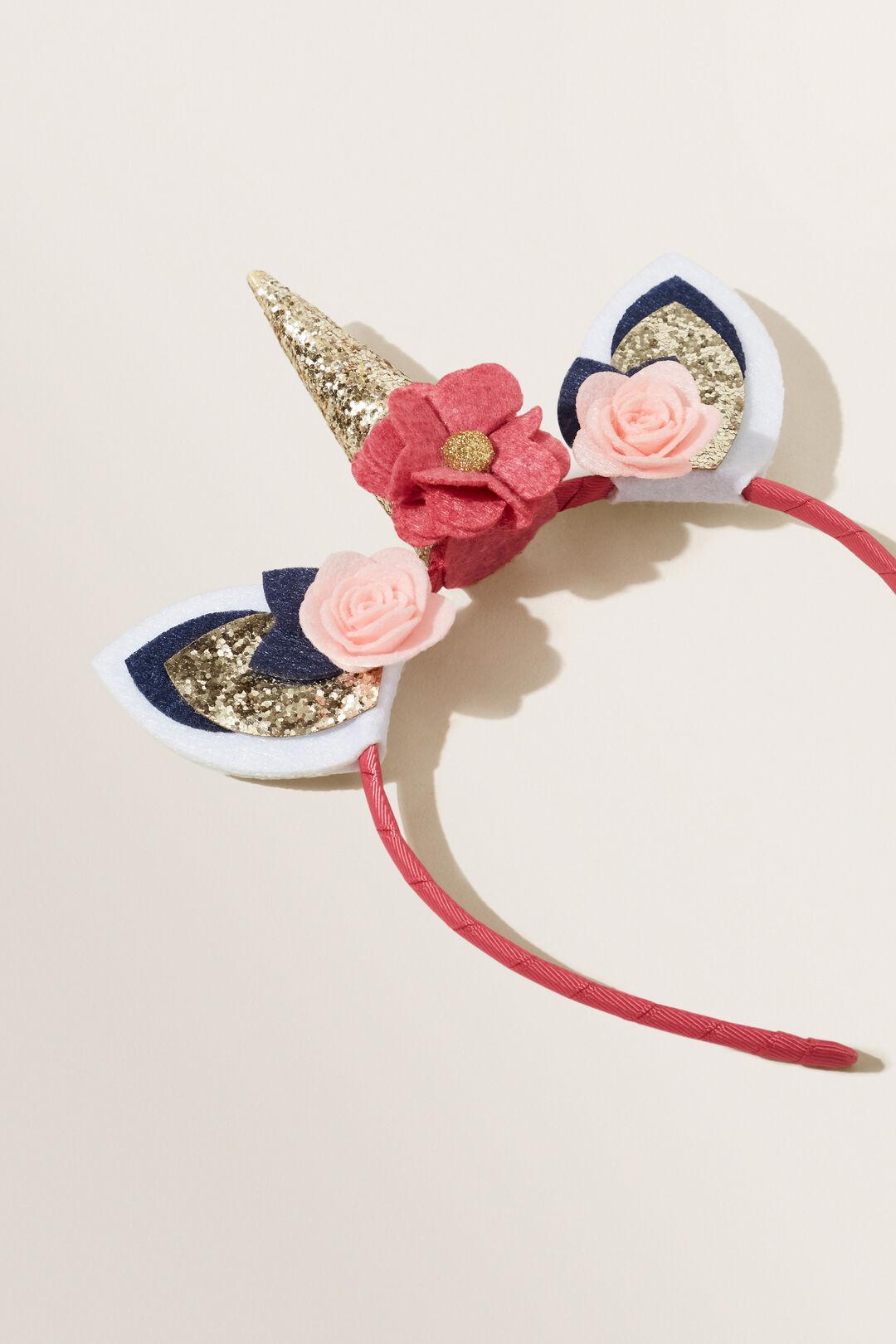 Felt Flower Unicorn Headband  MULTI  hi-res