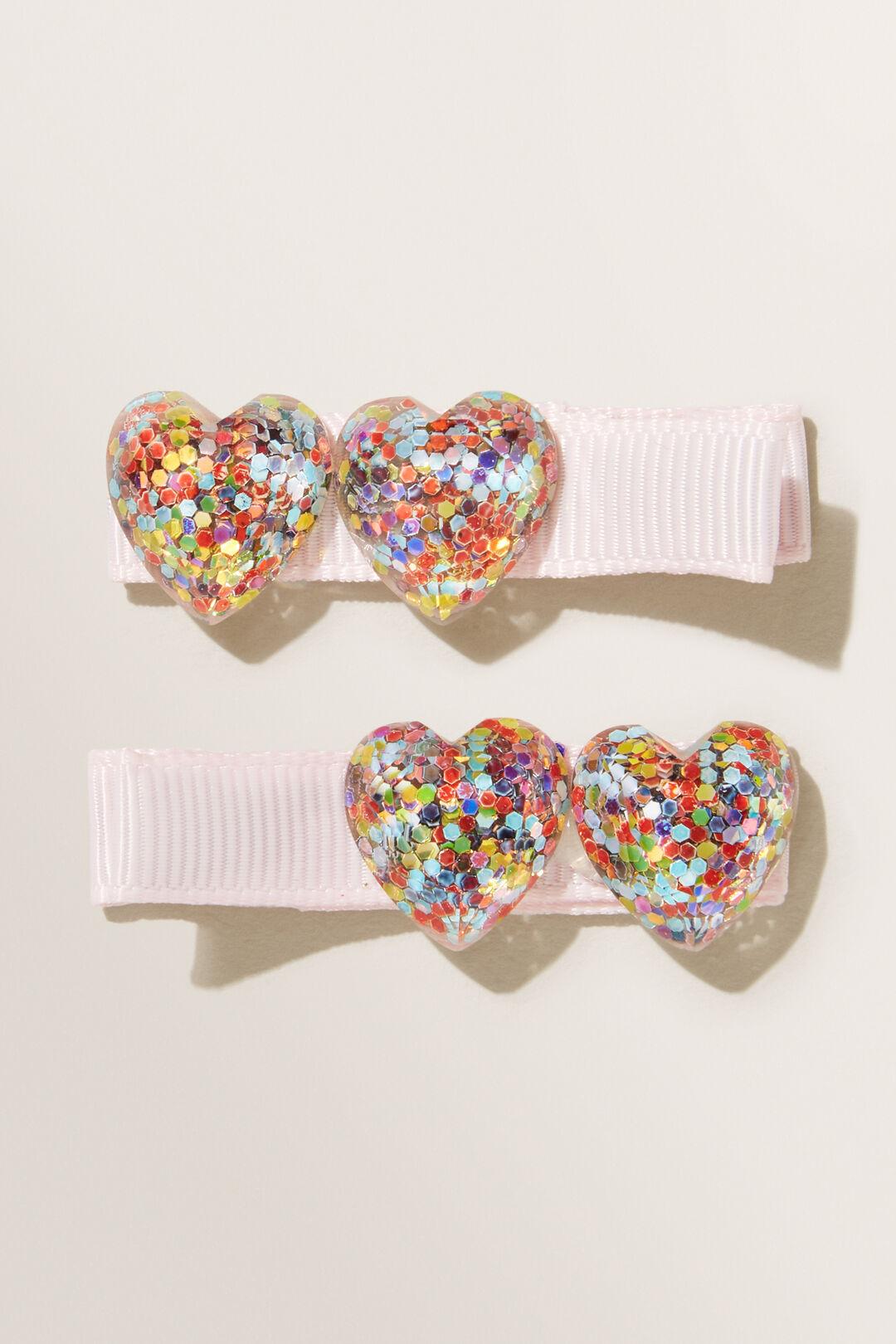 Confetti Hearts Clips  MULTI  hi-res