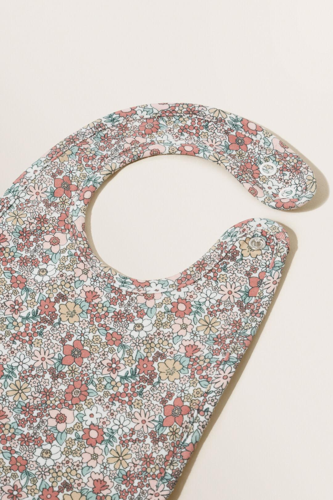 Floral Print Bib  CANVAS  hi-res