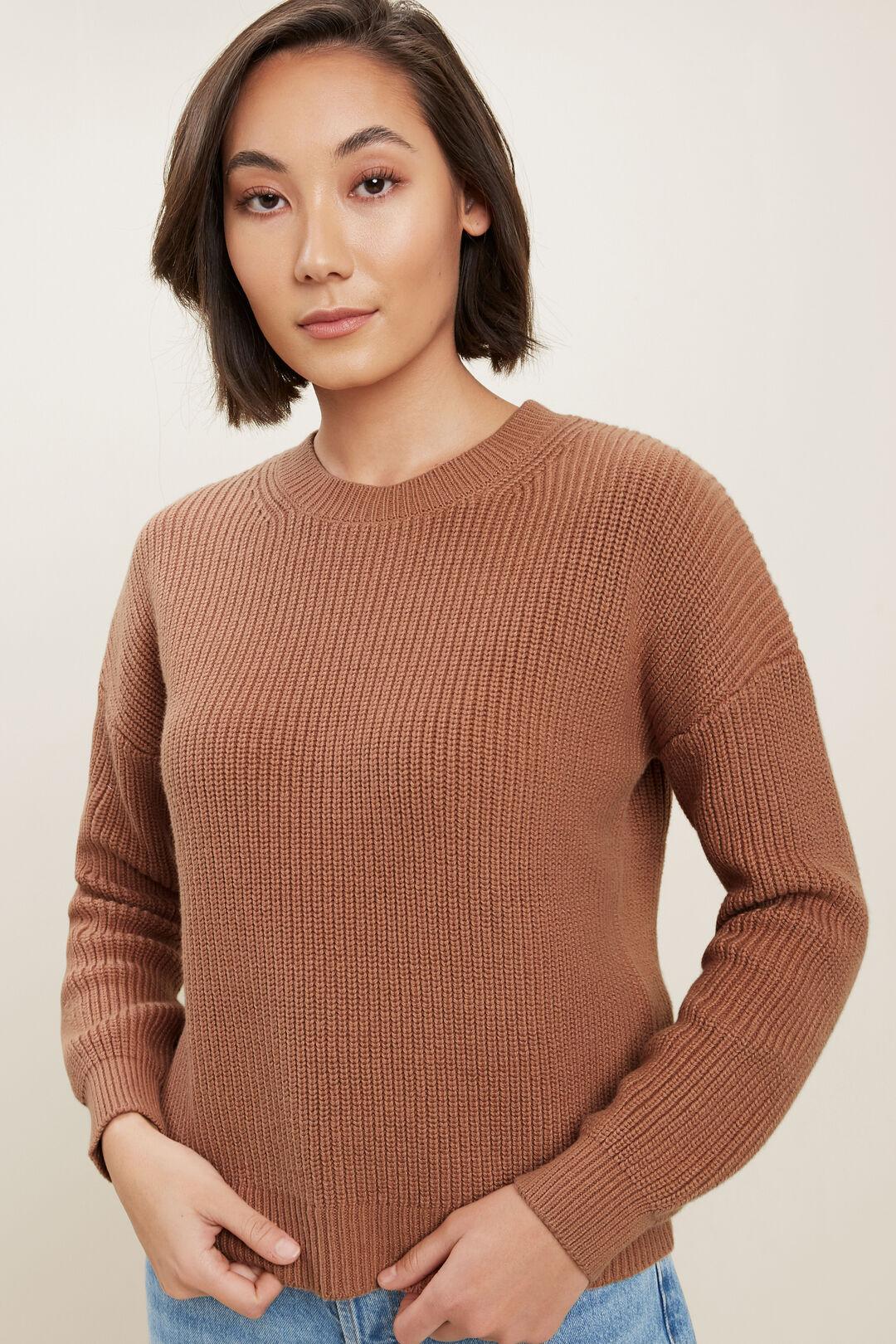 Fisherman Knit Sweater  BURNT SIENNA  hi-res