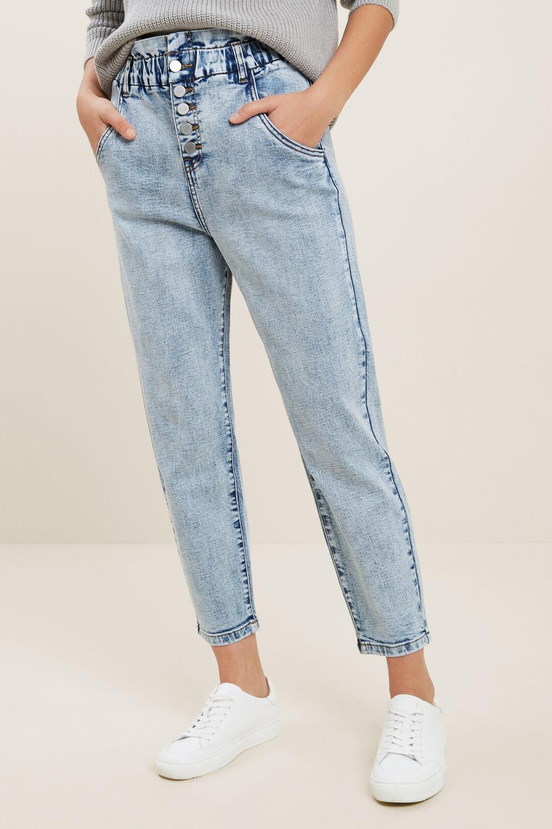 Button Paper Bag Jeans  90S VINTAGE WASH  hi-res