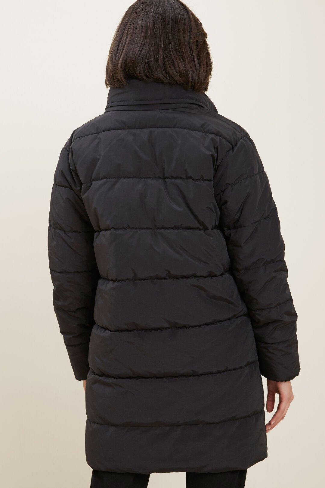 Longline Double Zip Puffer   BLACK  hi-res