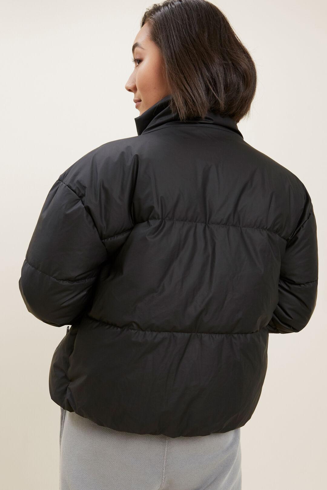 Crop Puffer Jacket  BLACK  hi-res