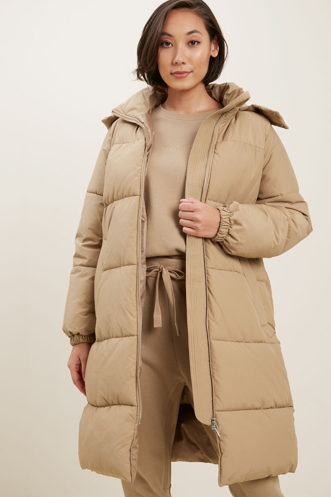 Hooded Oversize Puffer  HONEY DEW  hi-res