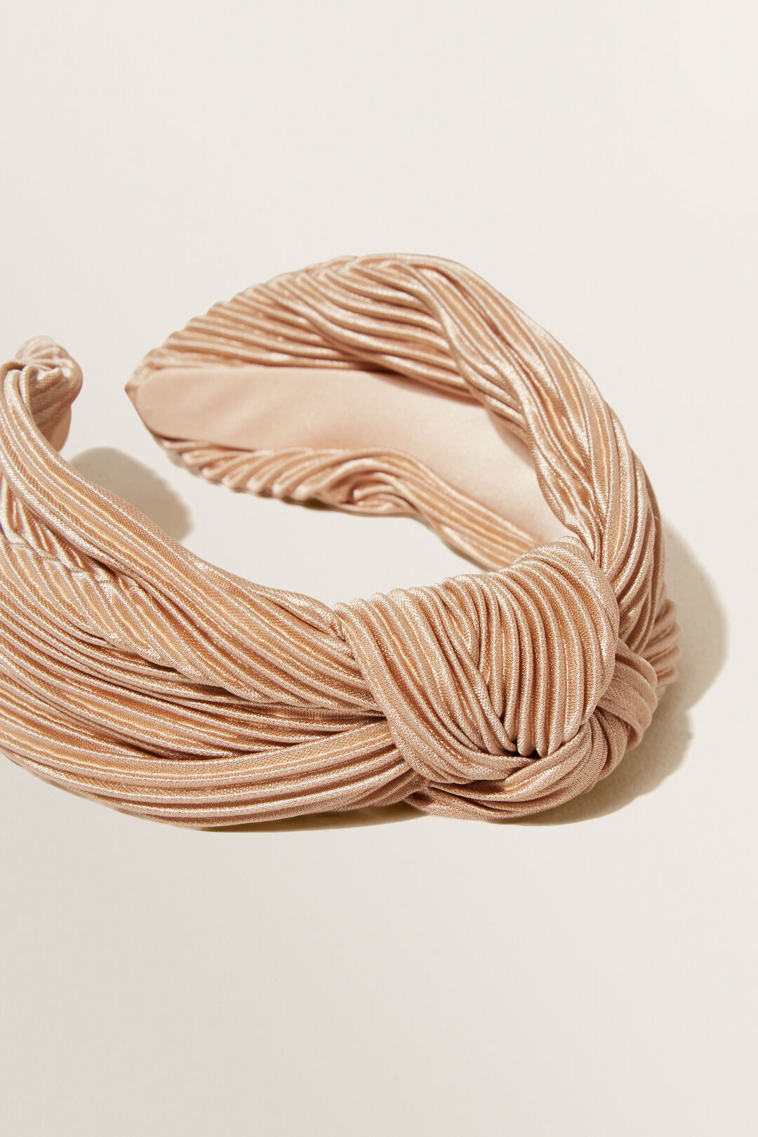 Knotted Pleat Headband  BISCOTTI  hi-res