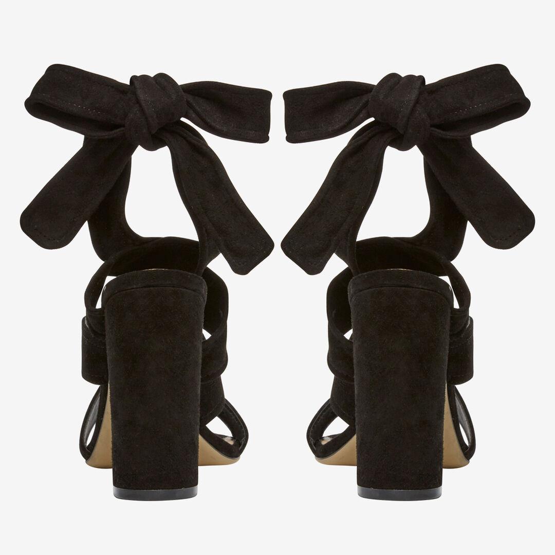Nina Tie Up Heel  BLACK  hi-res