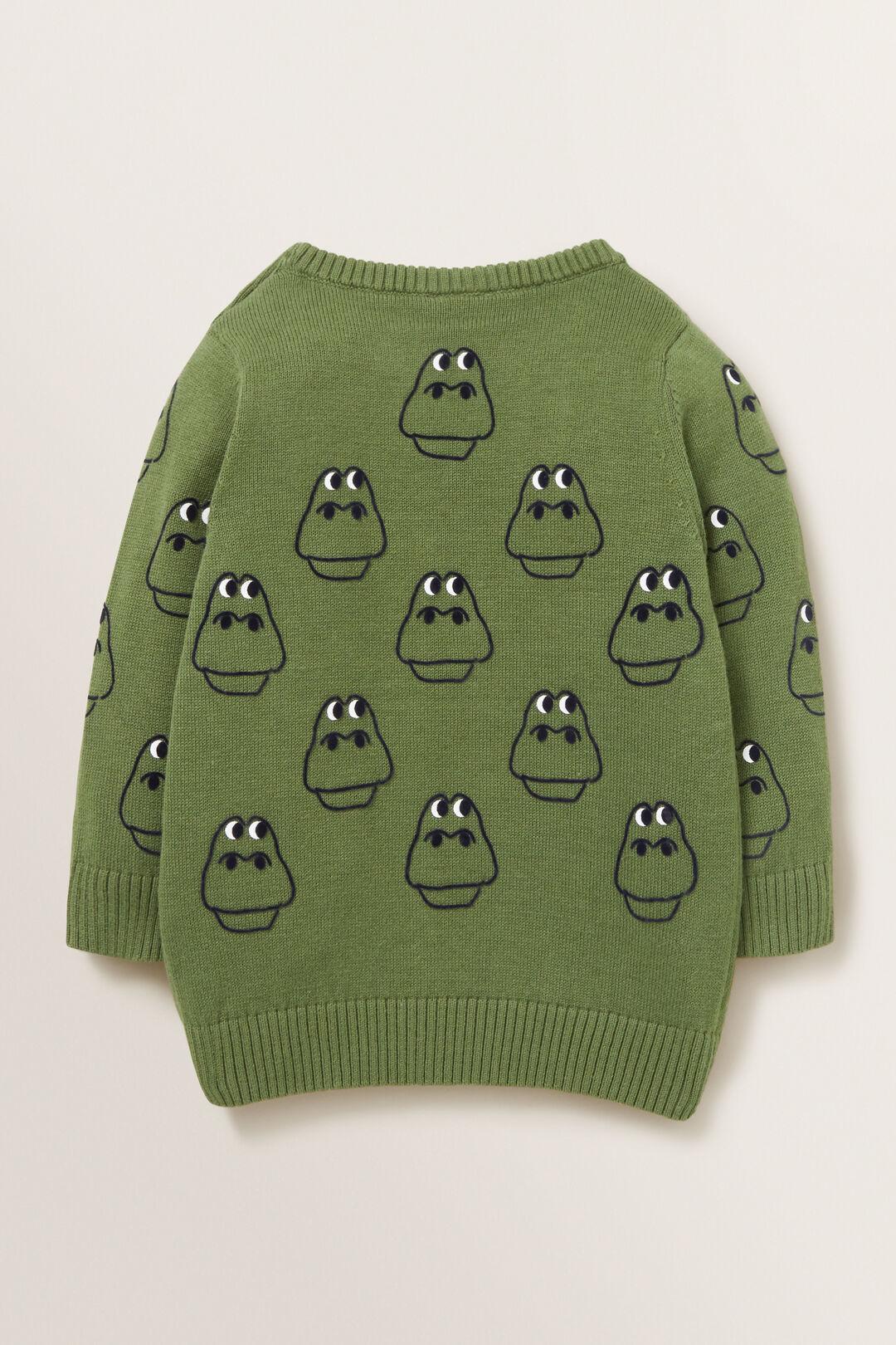 Dino Print Crew Knit  MOSS  hi-res