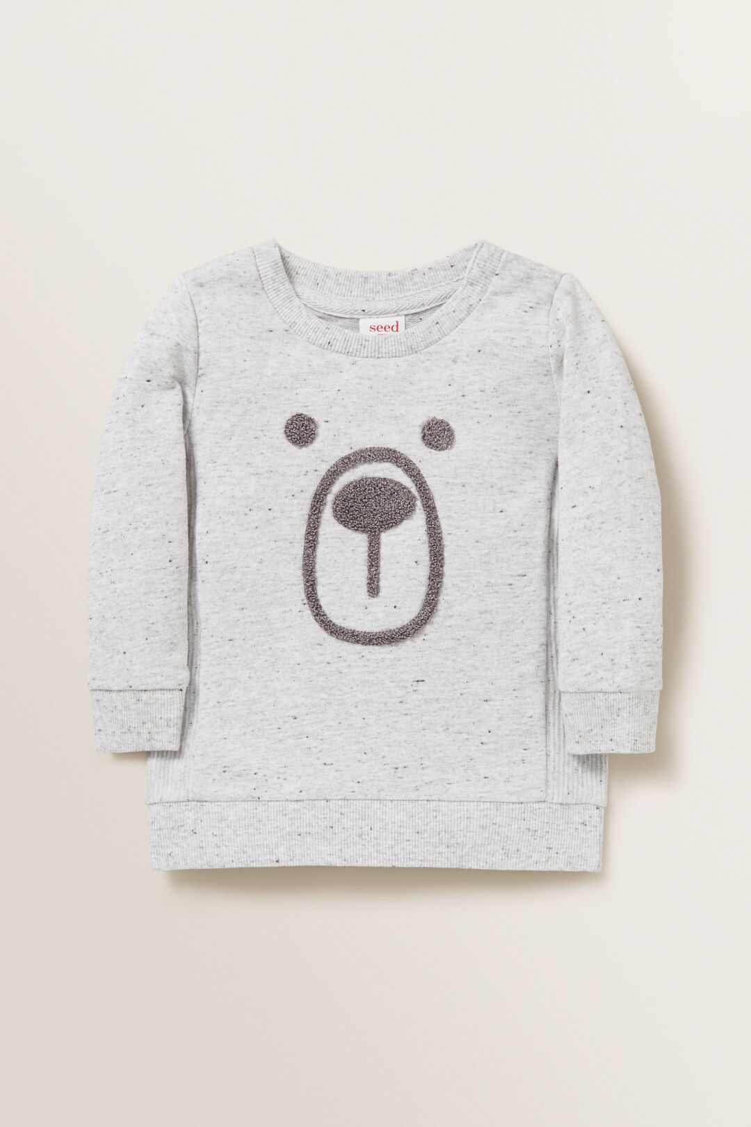 Chenille Bear Windcheater  CLOUDY MARLE  hi-res