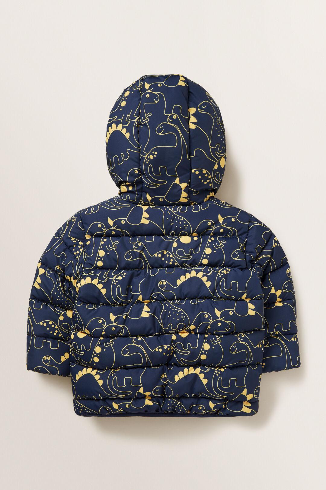 Printed Puffa Jacket  MIDNIGHT BLUE  hi-res