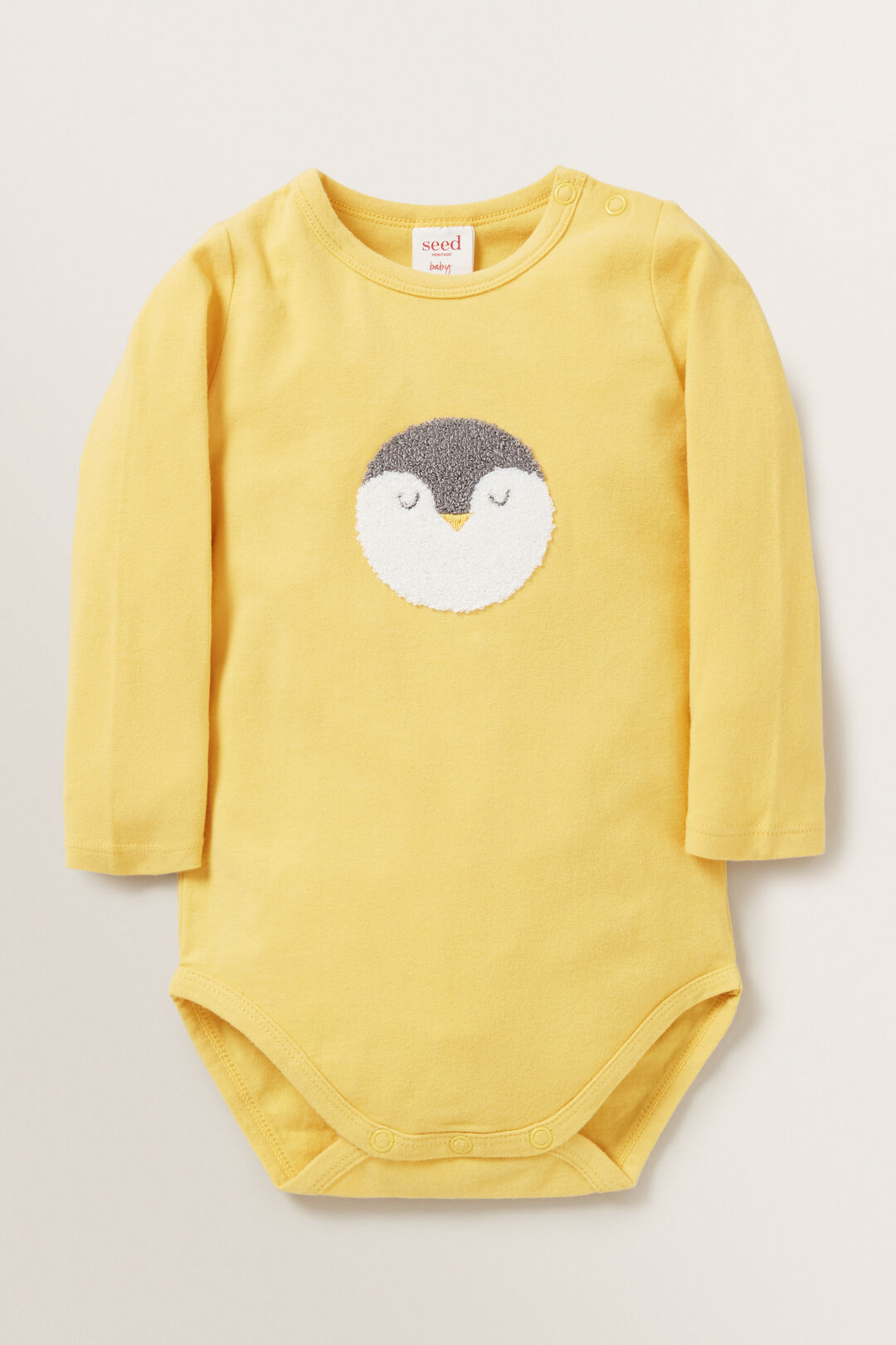 Penguin Bodysuit  PALE MUSTARD  hi-res