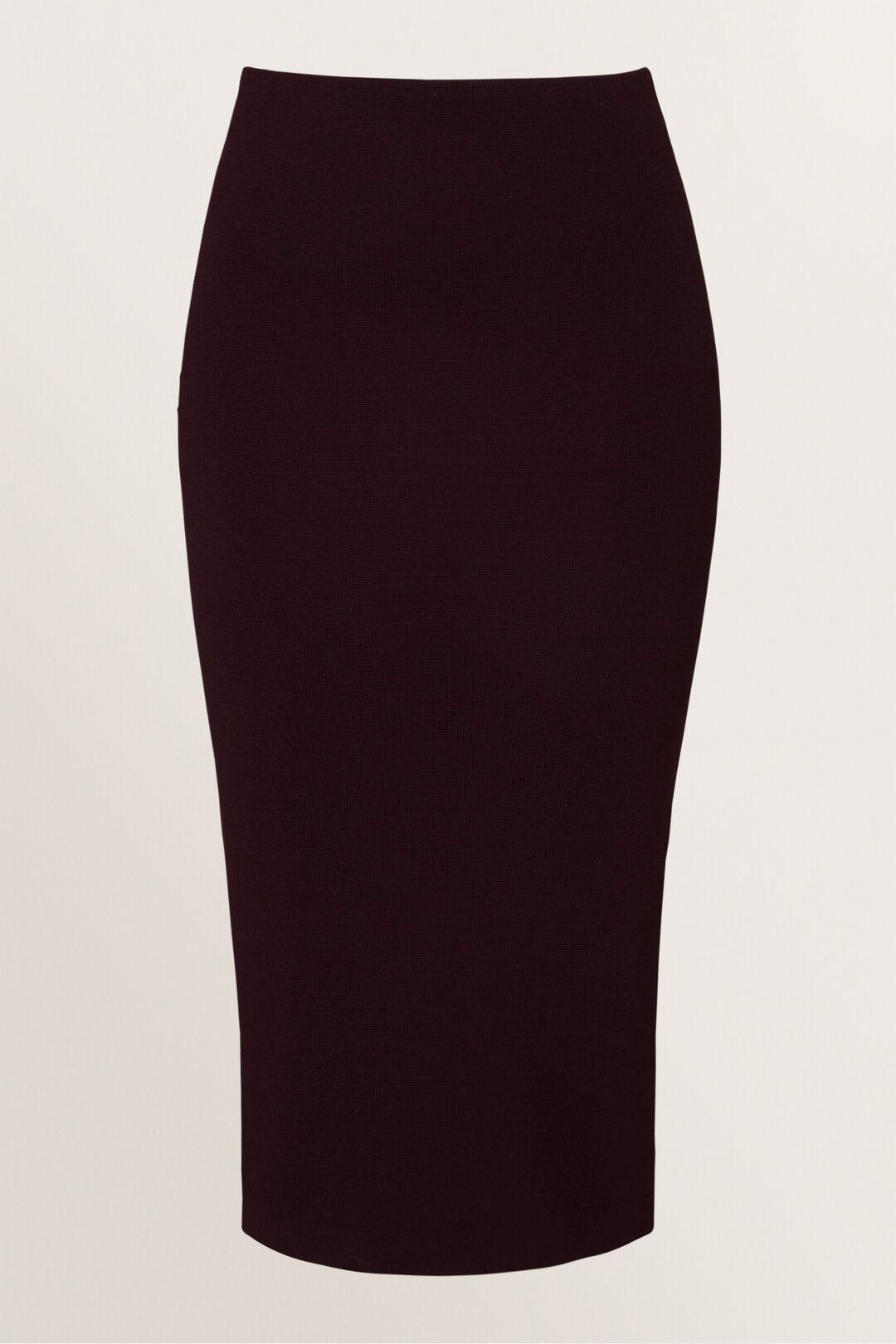 Crepe Pencil Skirt  DARK PLUM  hi-res