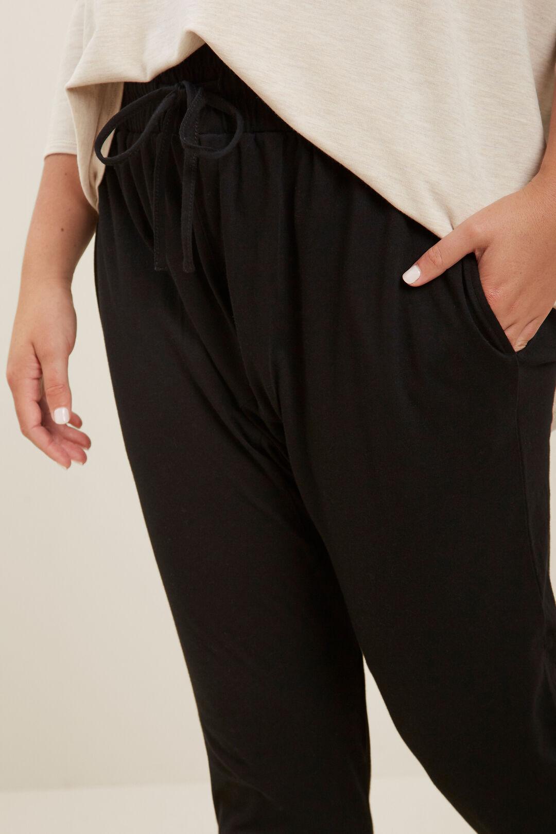 Harem Track Pant  BLACK  hi-res