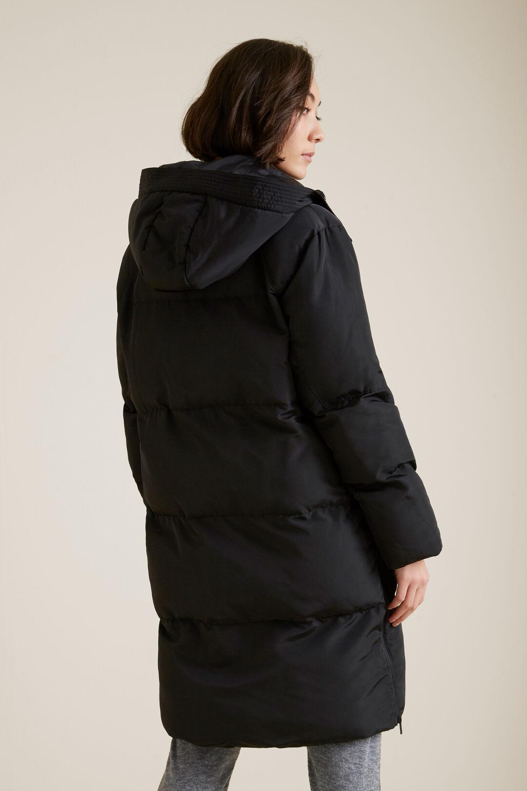Zipper Puffer Jacket  BLACK  hi-res