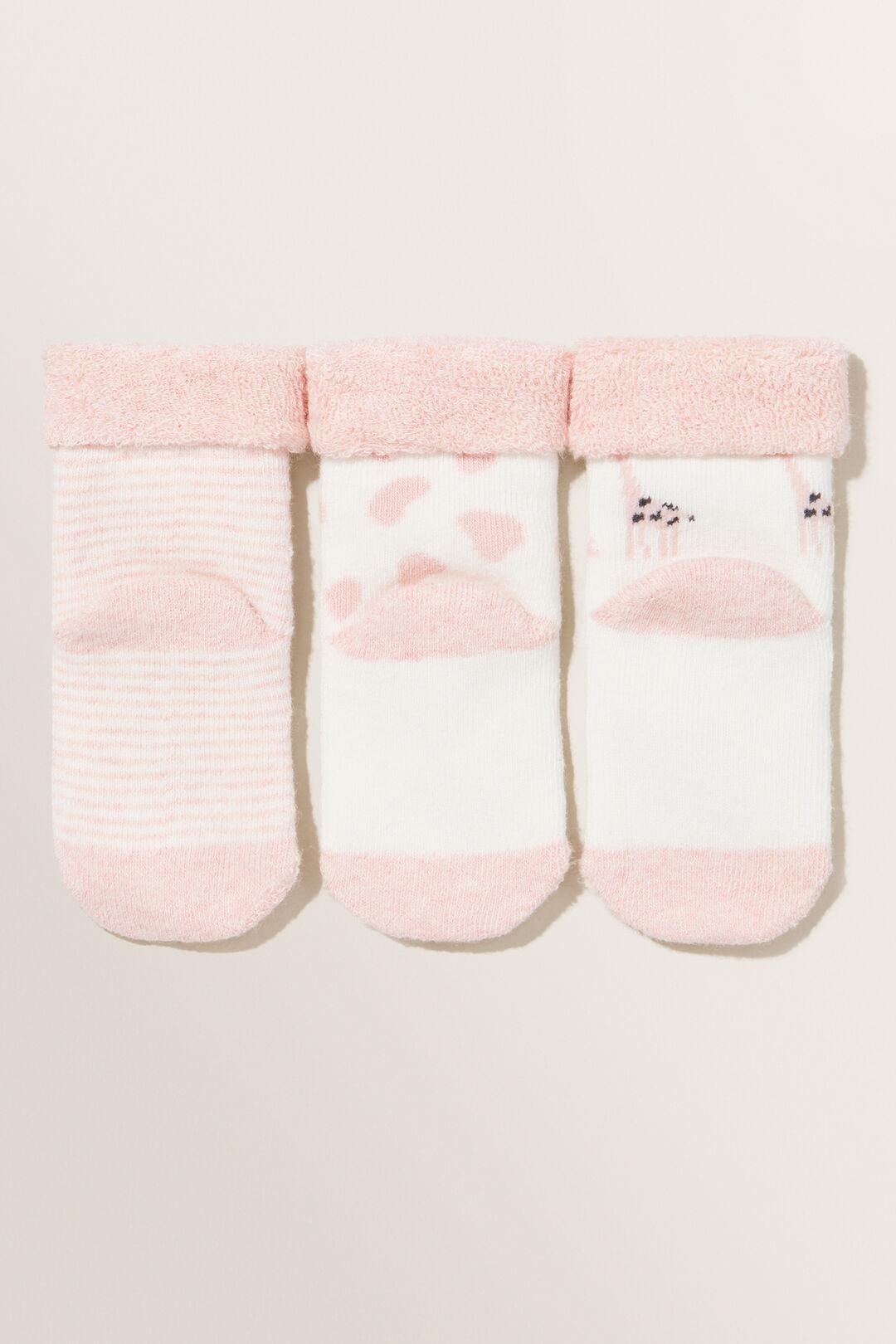 Giraffe Socks 3pk  DUSTY ROSE  hi-res