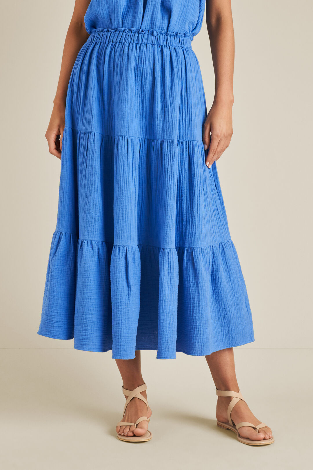 Cheesecloth Skirt  AZURE  hi-res