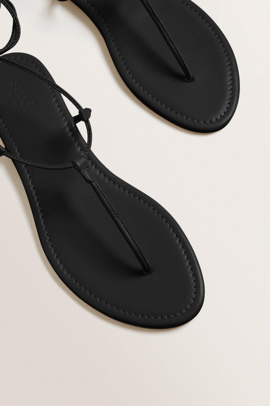 Tie Up Sandal  BLACK  hi-res