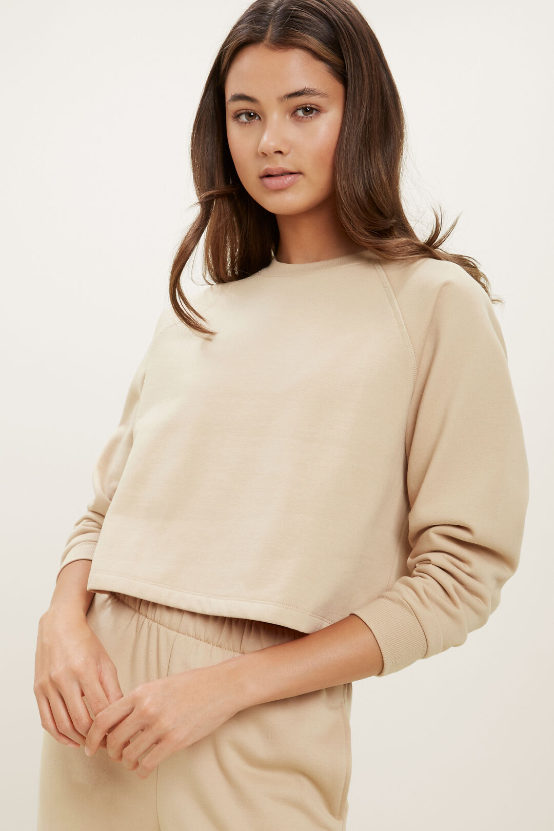 Cropped Sweater  CAPPUCCINO  hi-res