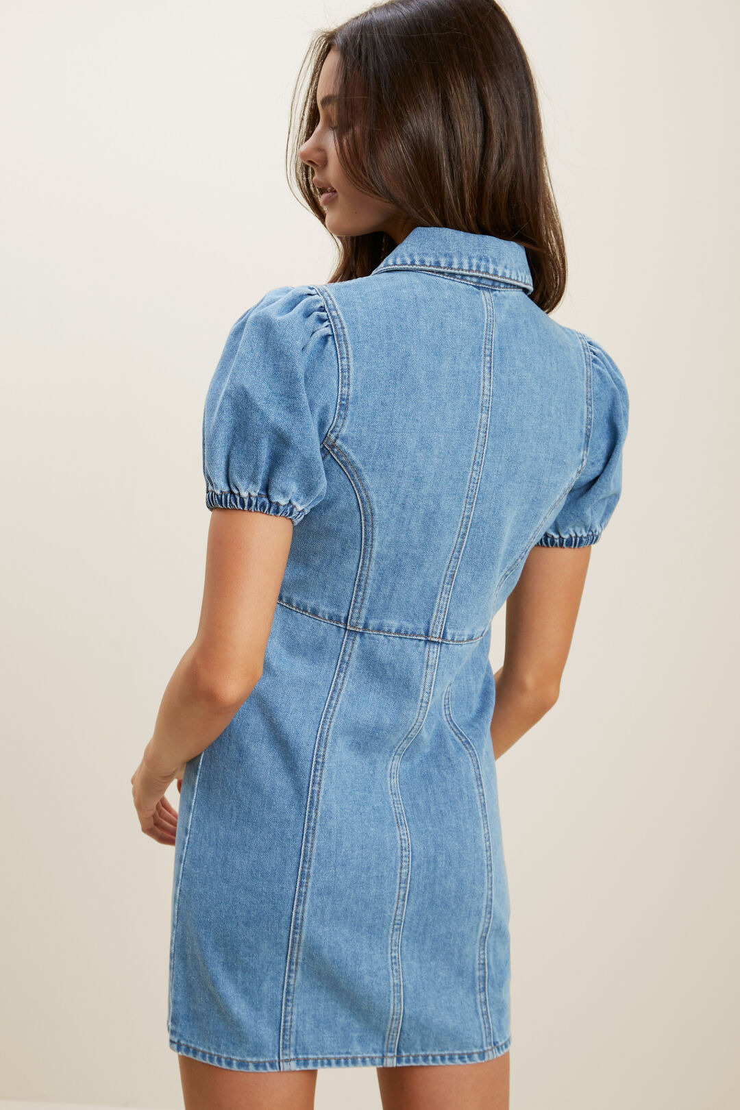 Denim Dress  RETRO BLUE WASH  hi-res