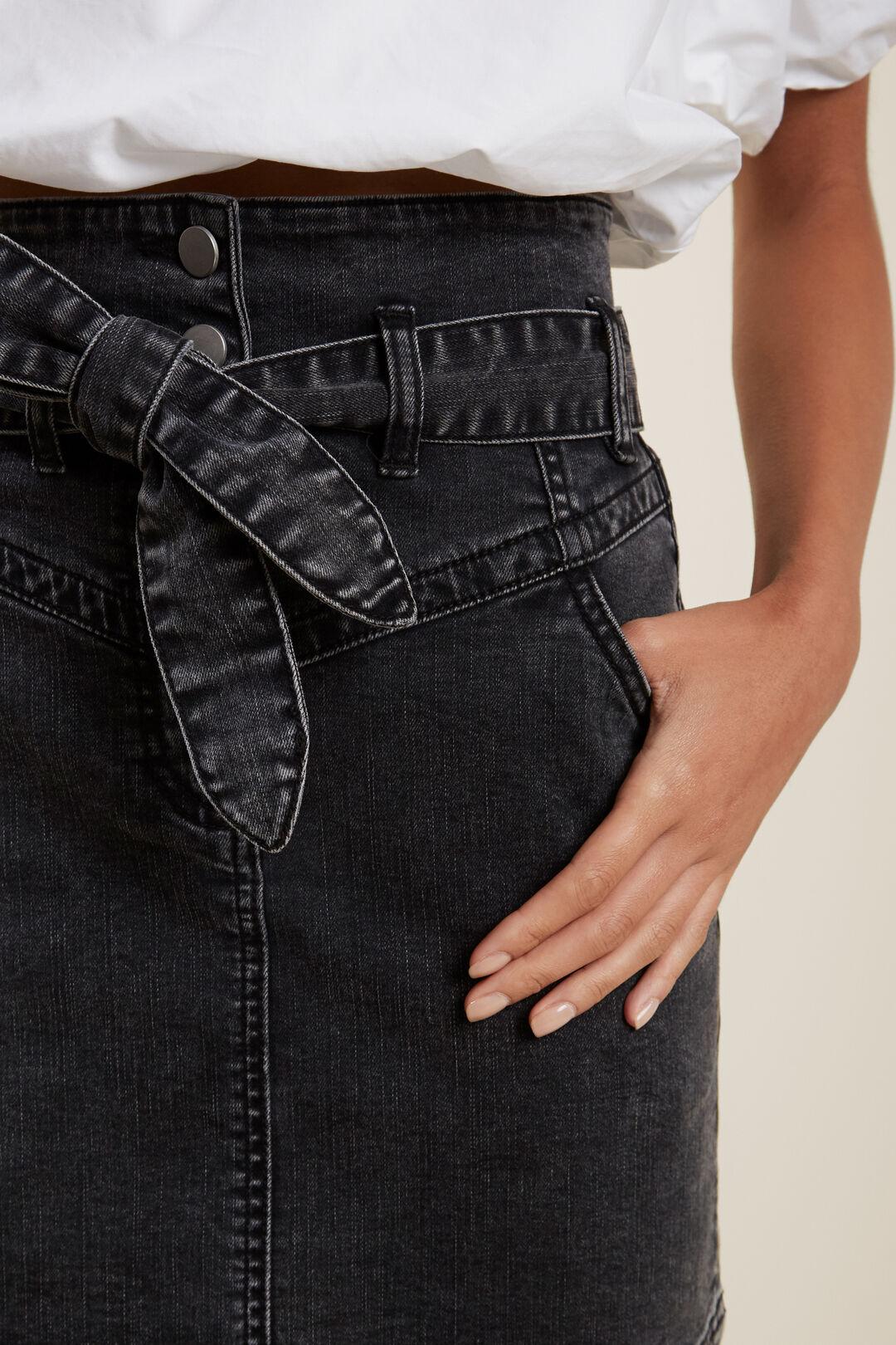 Denim Skirt  WASHED BLACK  hi-res