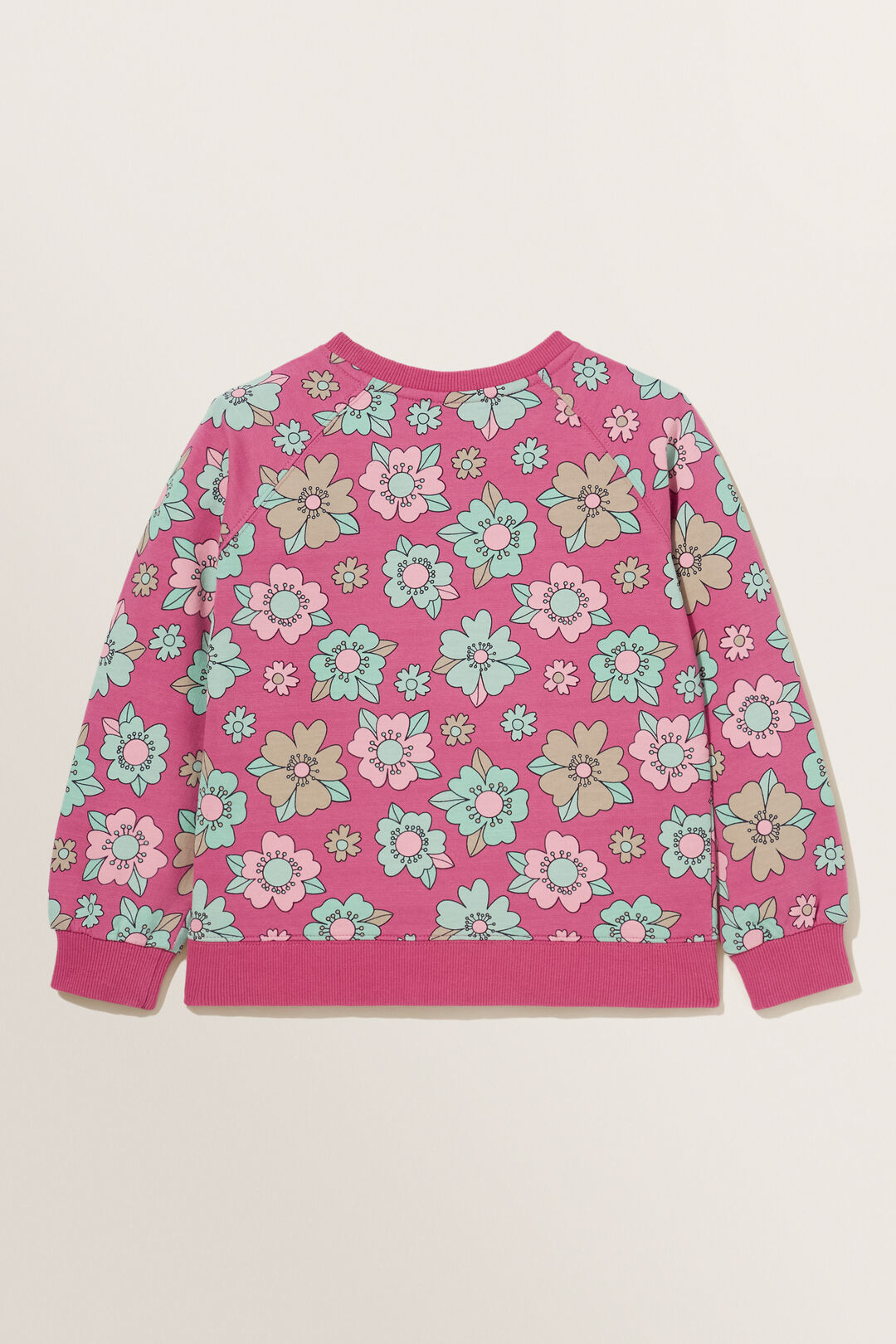 Floral Sweater  BERRY  hi-res