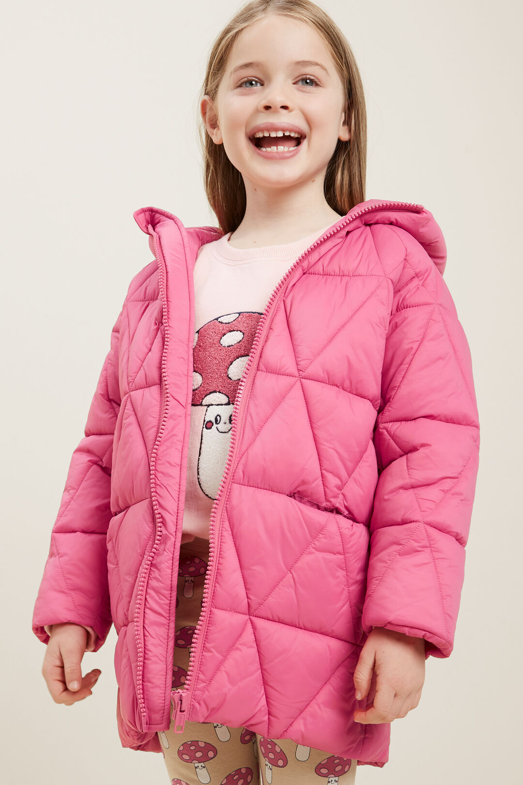 Puffer Coat  BERRY  hi-res