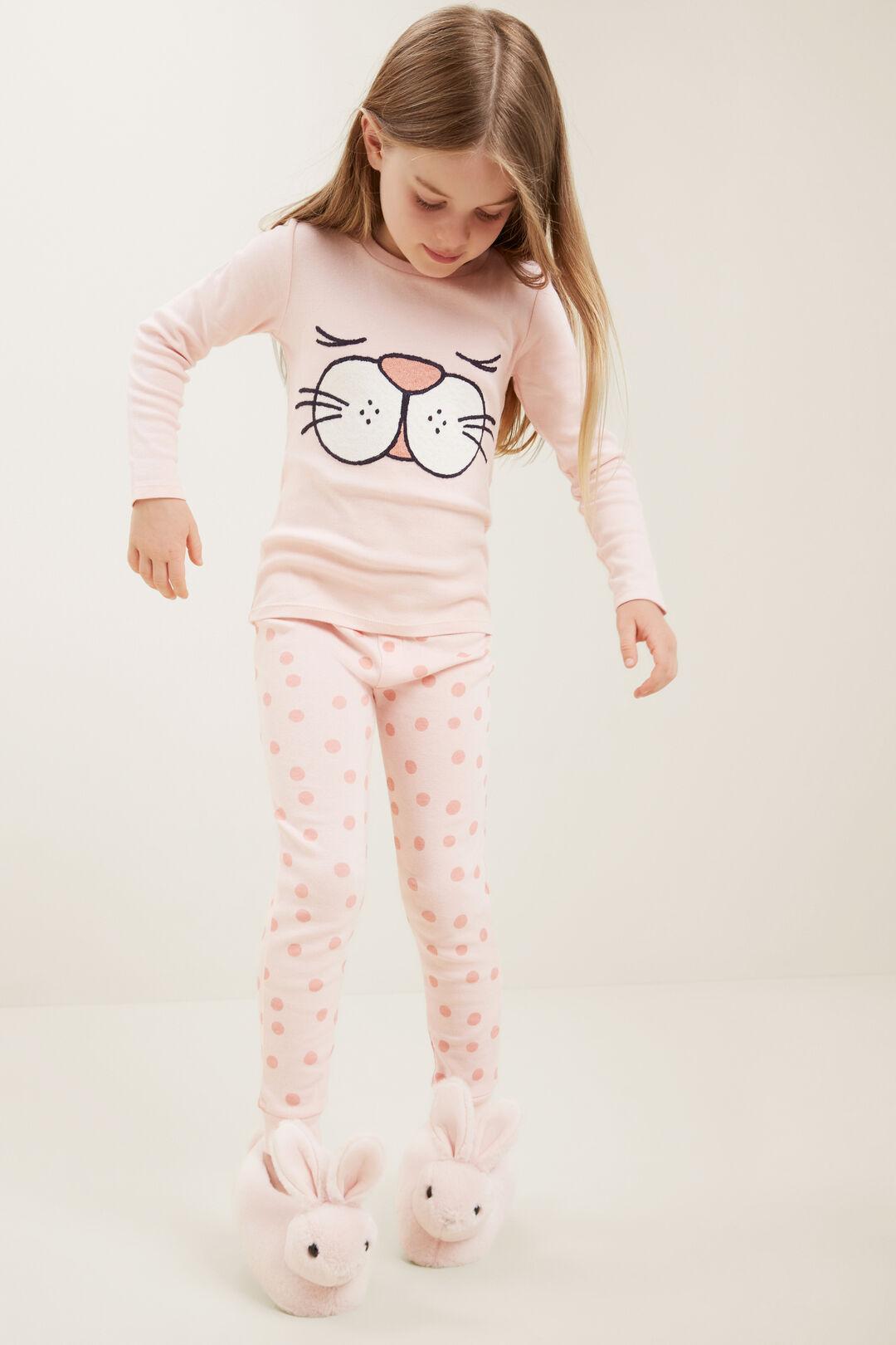 Bunny Face Long Sleeve  Pyjamas  DUSTY ROSE  hi-res
