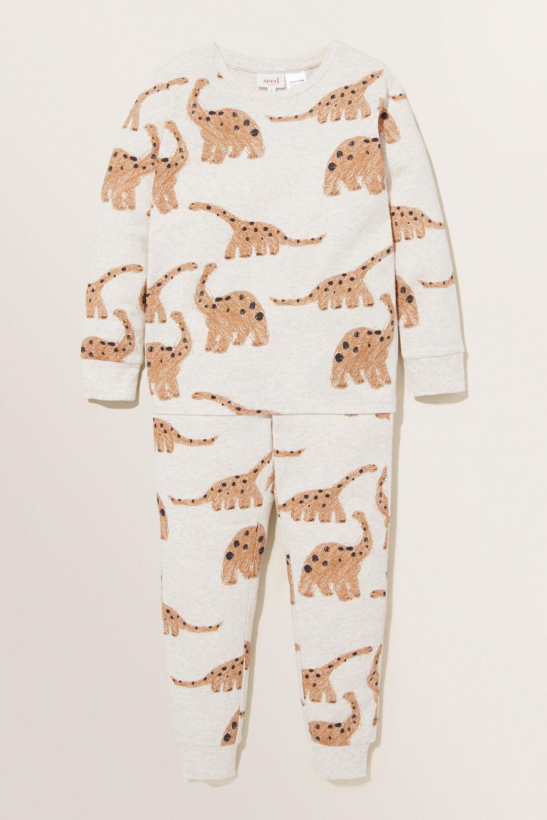 Dinosaur Long Sleeve  Pyjamas  OAT  hi-res