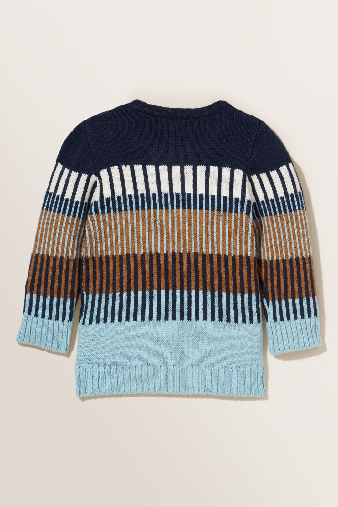 Jacquard Knitted Sweater   MIDNIGHT BLUE  hi-res