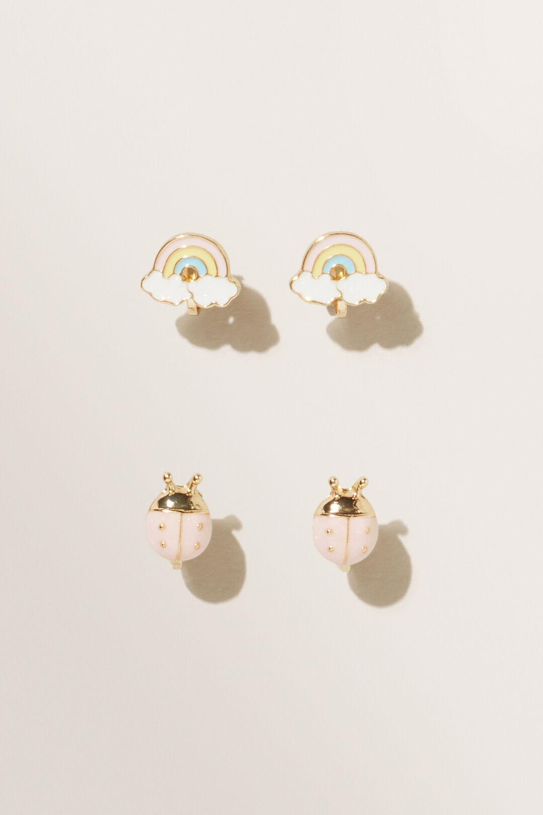 Ladybird Clip On Earrings  MULTI  hi-res