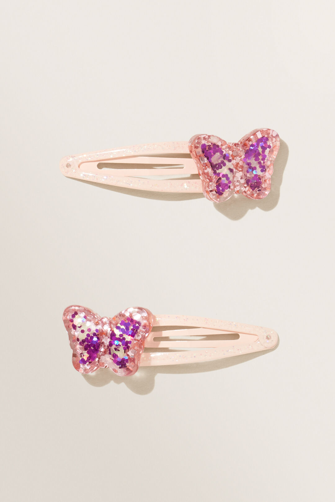 Glitter Butterfly Snap Clips  MULTI  hi-res