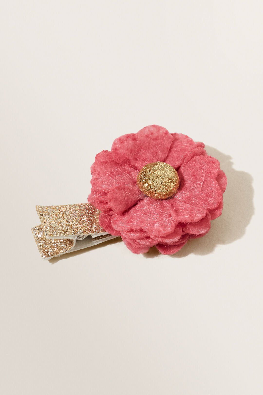 Felt Flower Clips  BERRY  hi-res