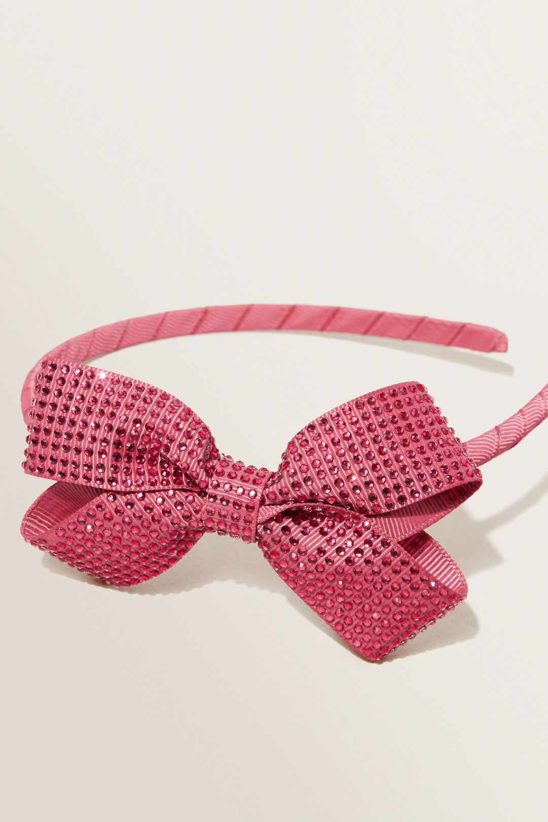 Diamante Bow Headband  BERRY  hi-res
