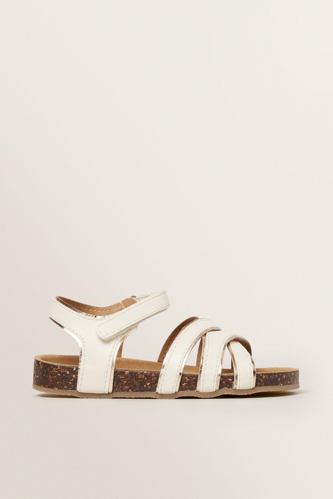 Criss Cross Strap Sandal  NATURAL  hi-res