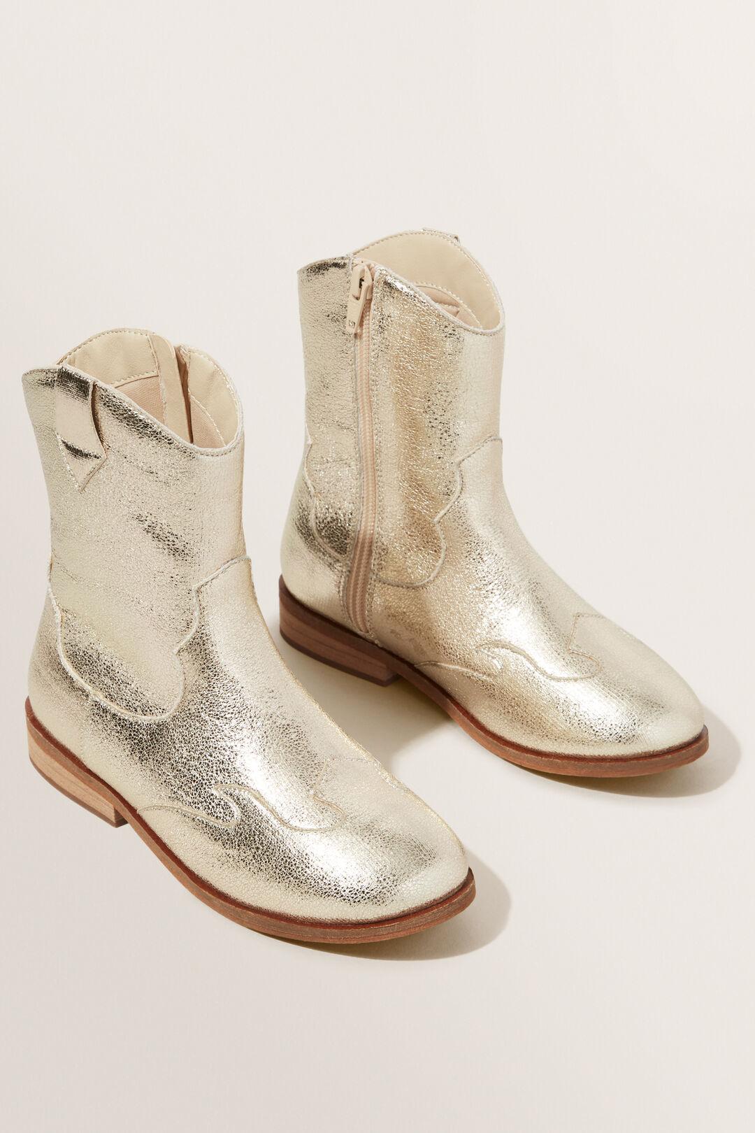Metallic Cowboy Boot  GOLD  hi-res