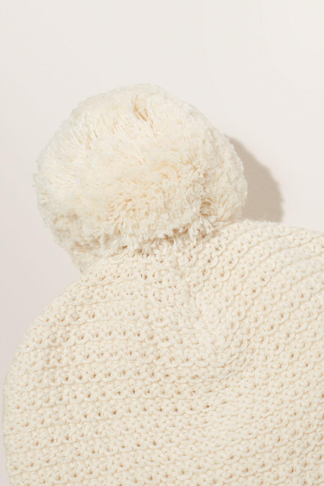 Knitted Beanie  RICH CREAM  hi-res