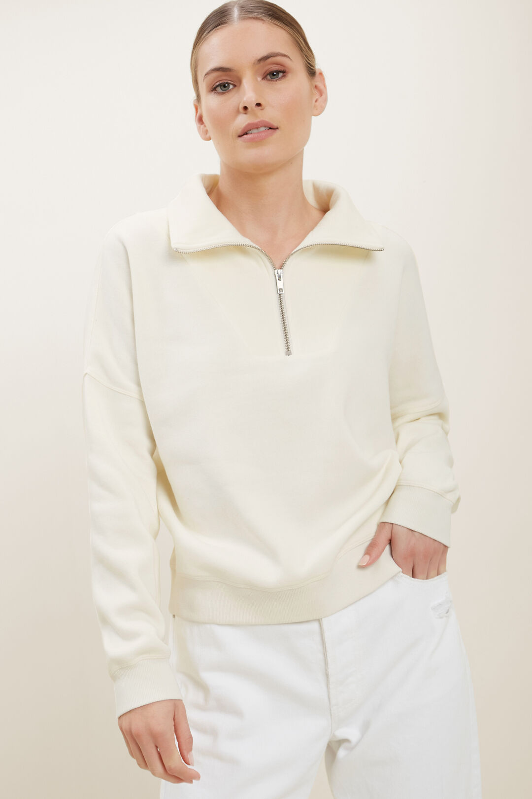 Funnel Neck Sweater  FRENCH VANILLA  hi-res