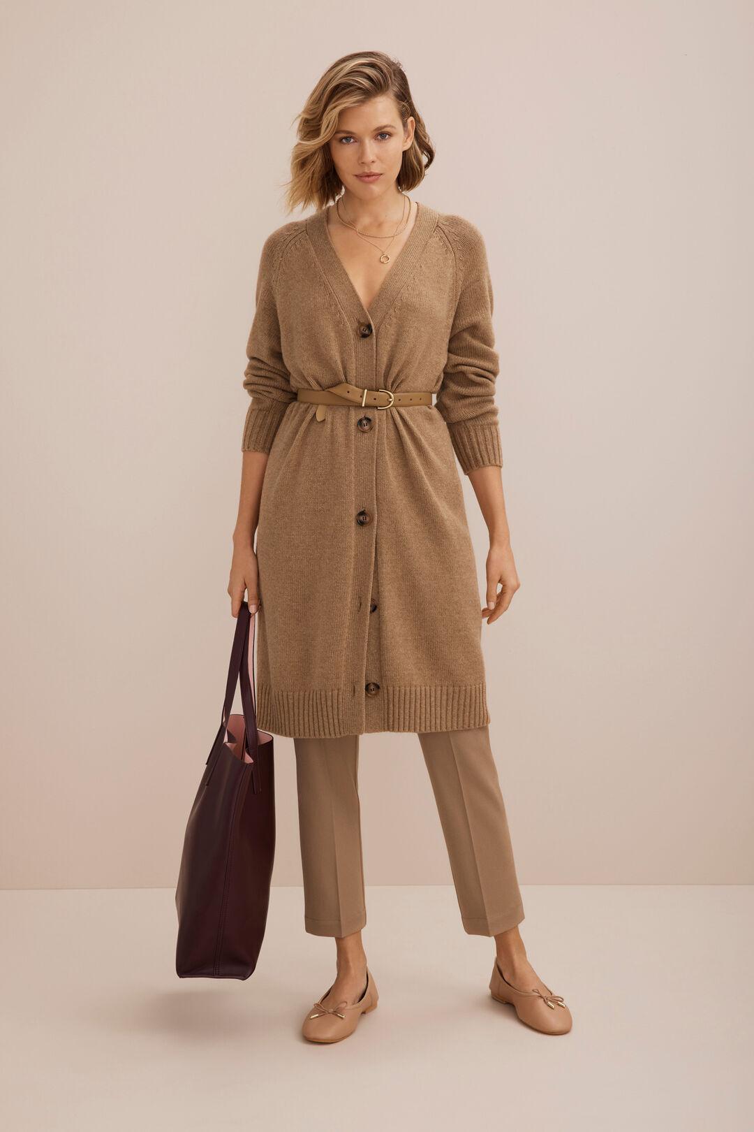 Wool Blend Cardigan   HONEY DEW MARLE  hi-res