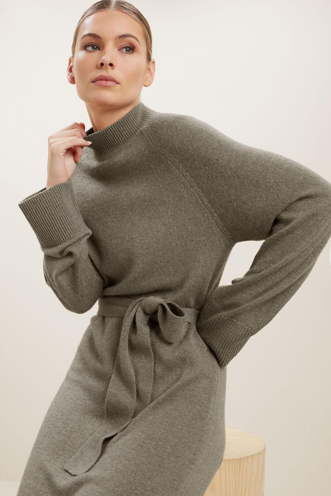 Marle Knit Dress  OLIVE KHAKI MARLE  hi-res