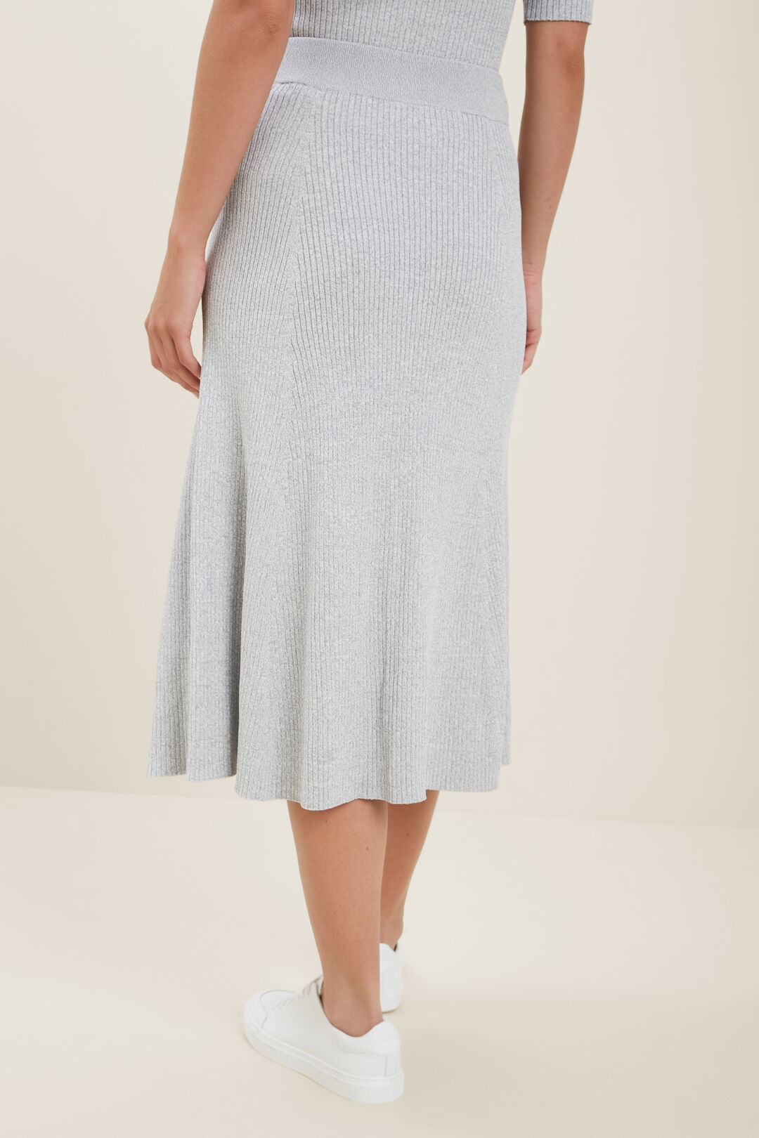 Spacedye  Rib Knit Skirt  STORMY GREY SPACEDYE  hi-res