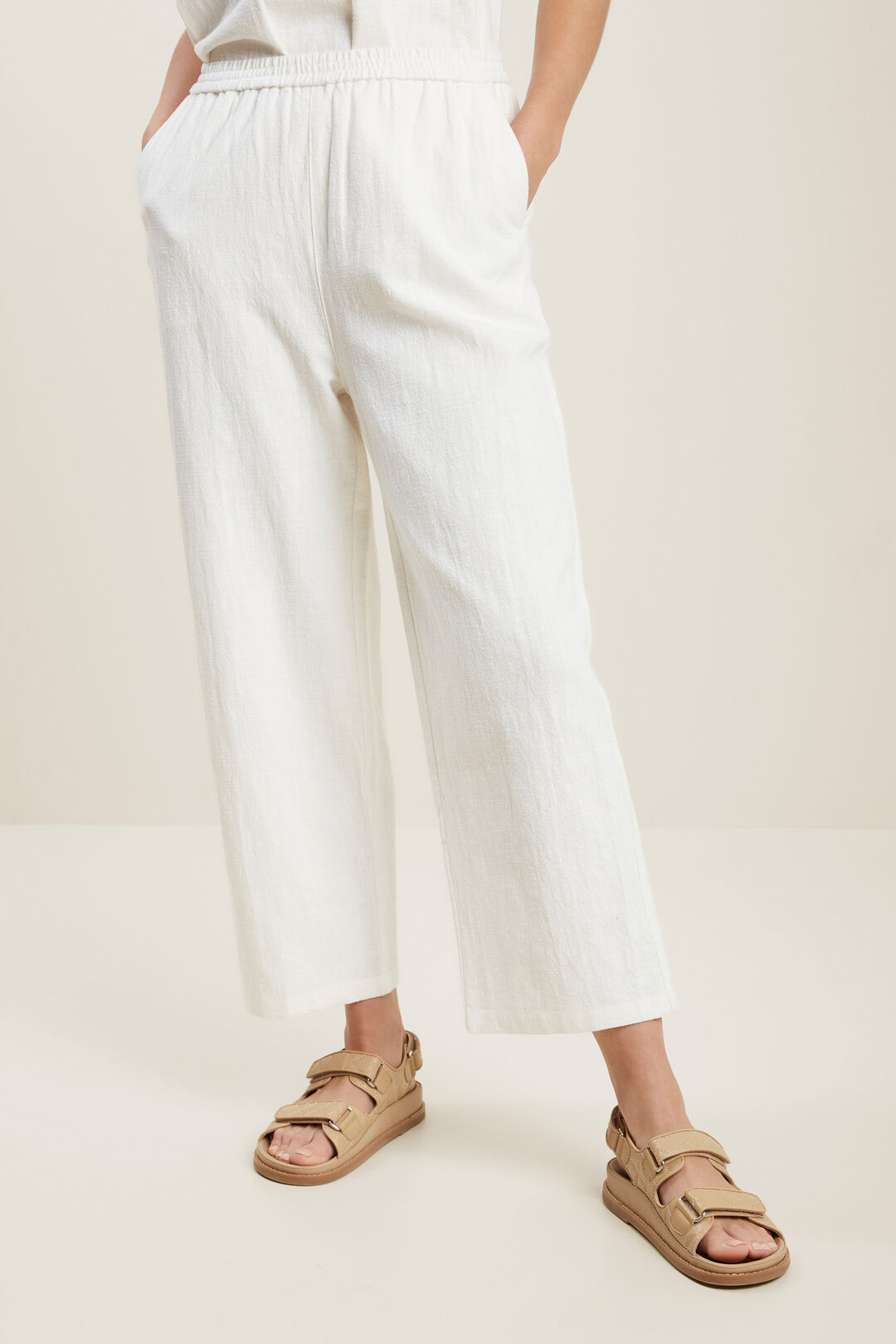 Textured Relaxed Pant  CLOUD CREAM  hi-res
