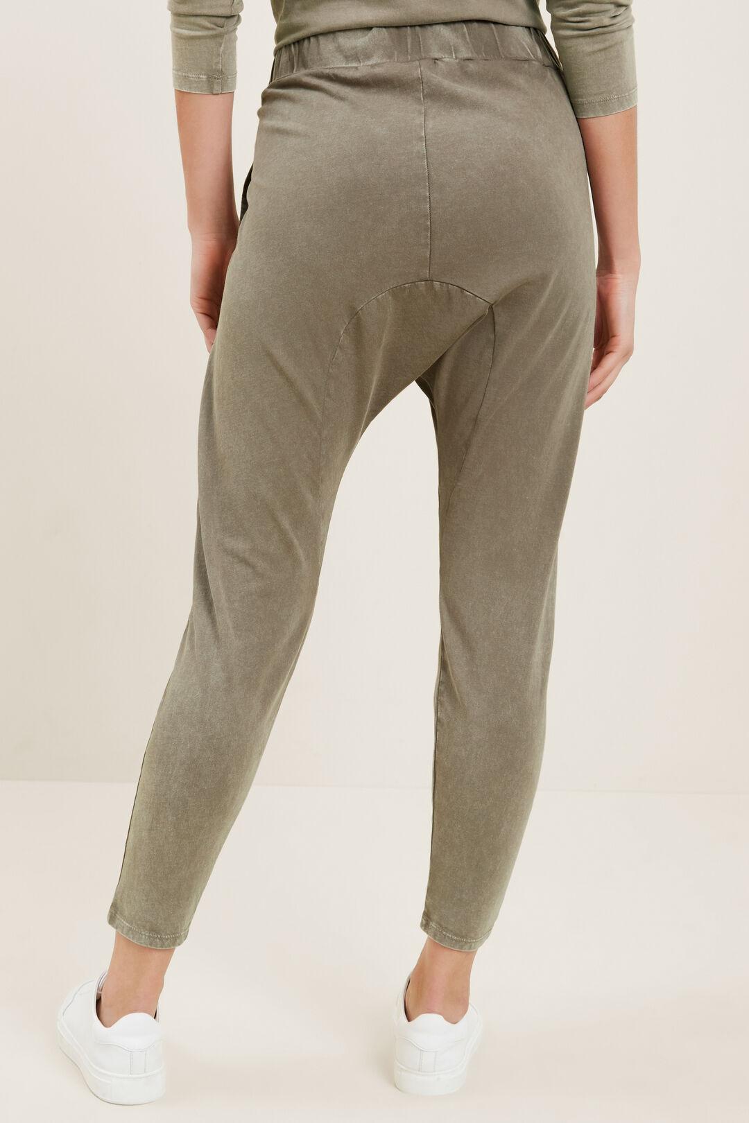 Vintage Wash Harem Pants  OLIVE KHAKI ACID WAS  hi-res