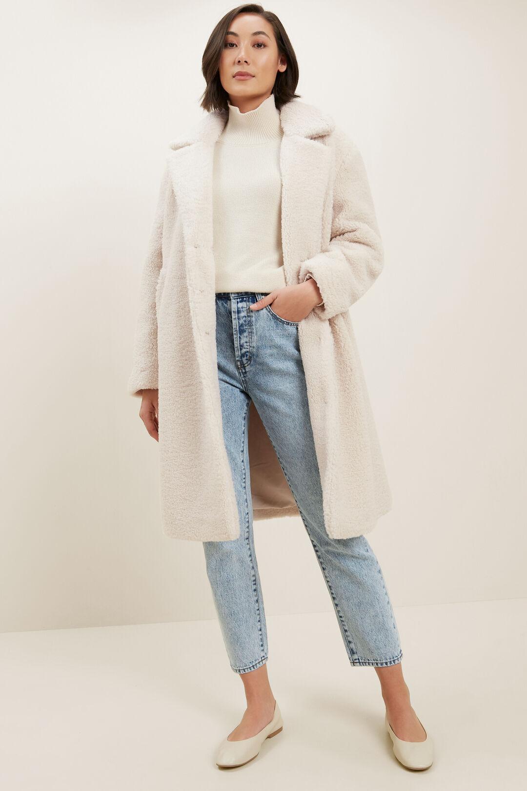 Long Teddy Coat  OAT  hi-res