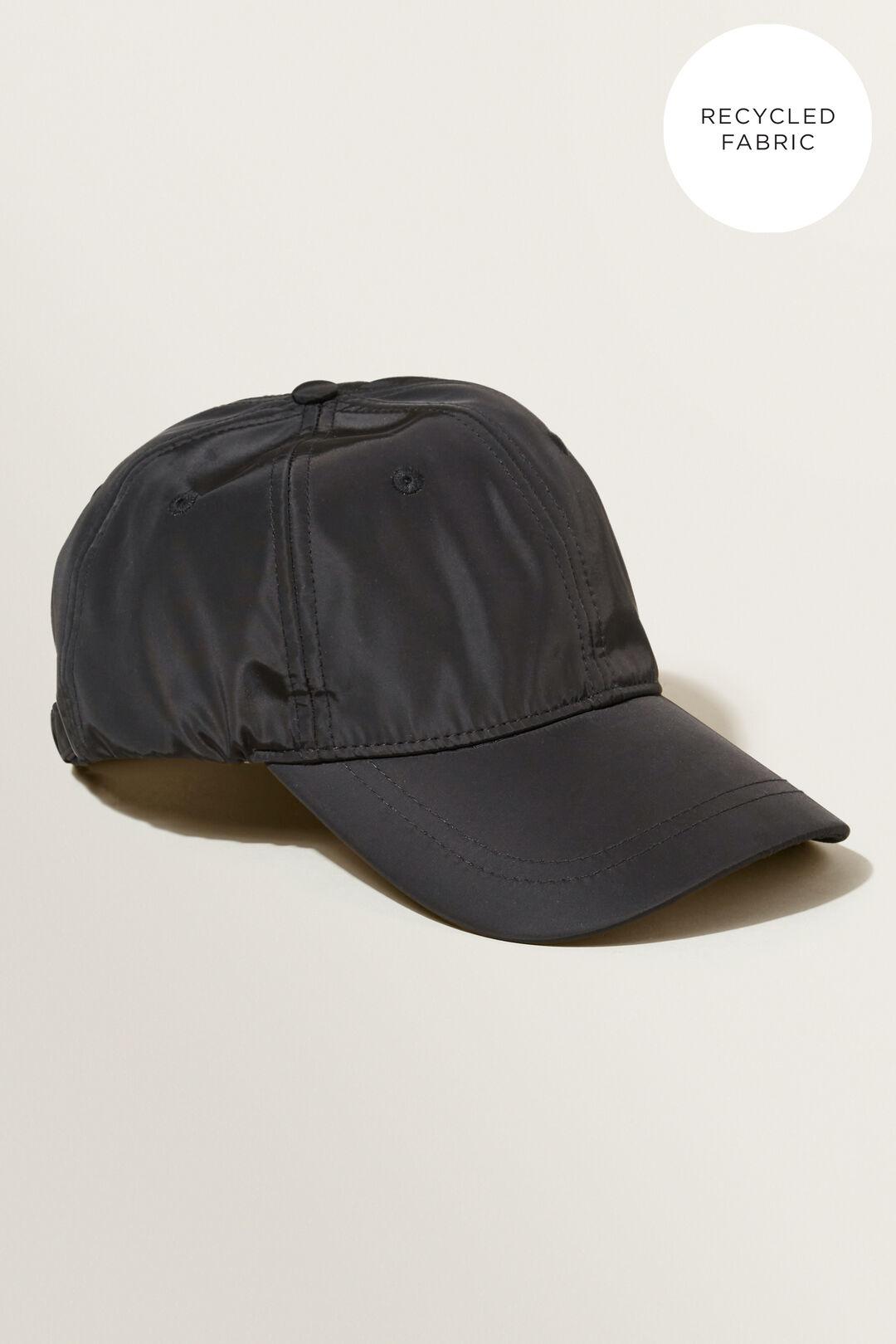 Recycled Fibre Cap  BLACK  hi-res