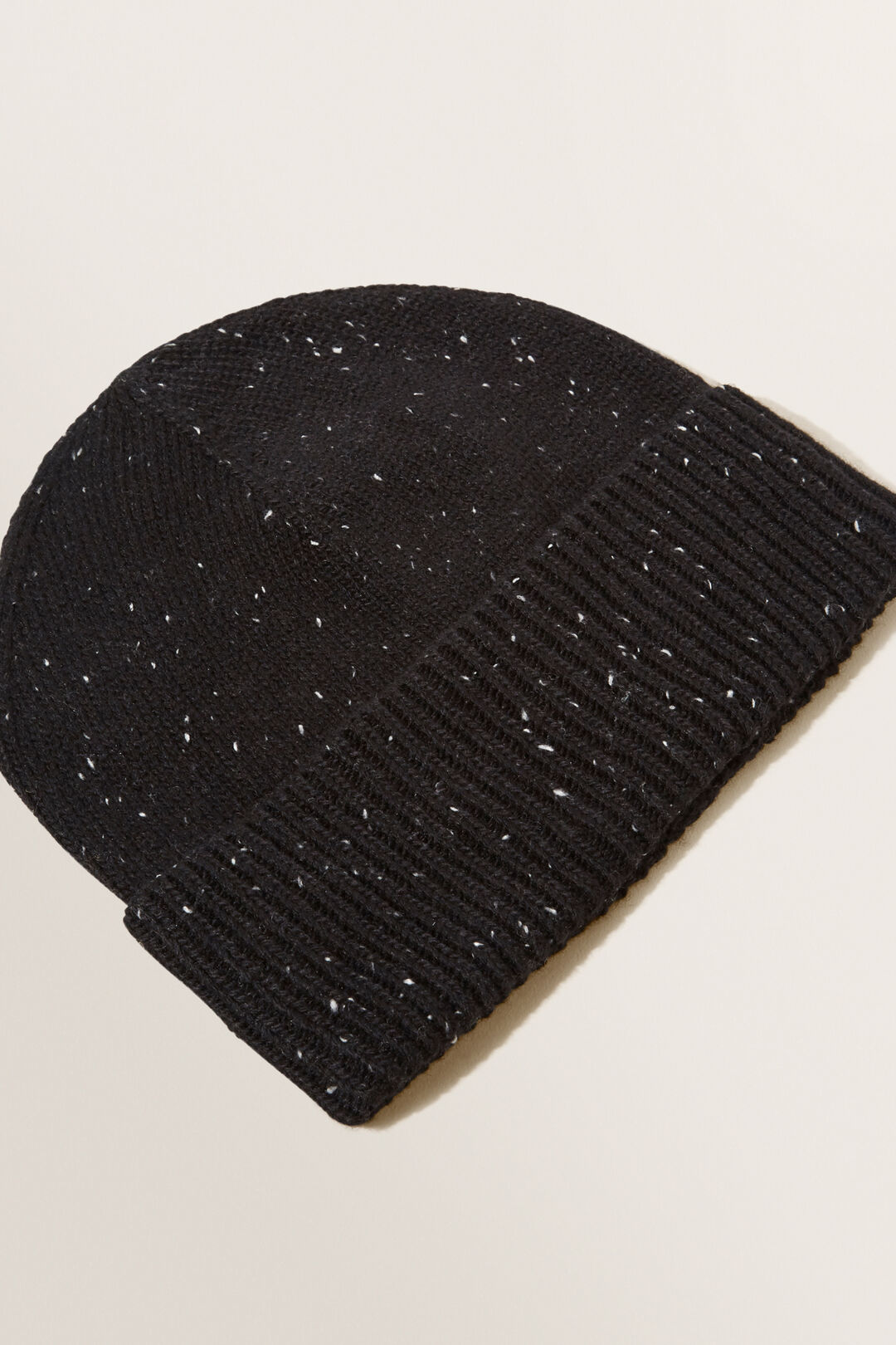 Fleck Knit Beanie  BLACK  hi-res