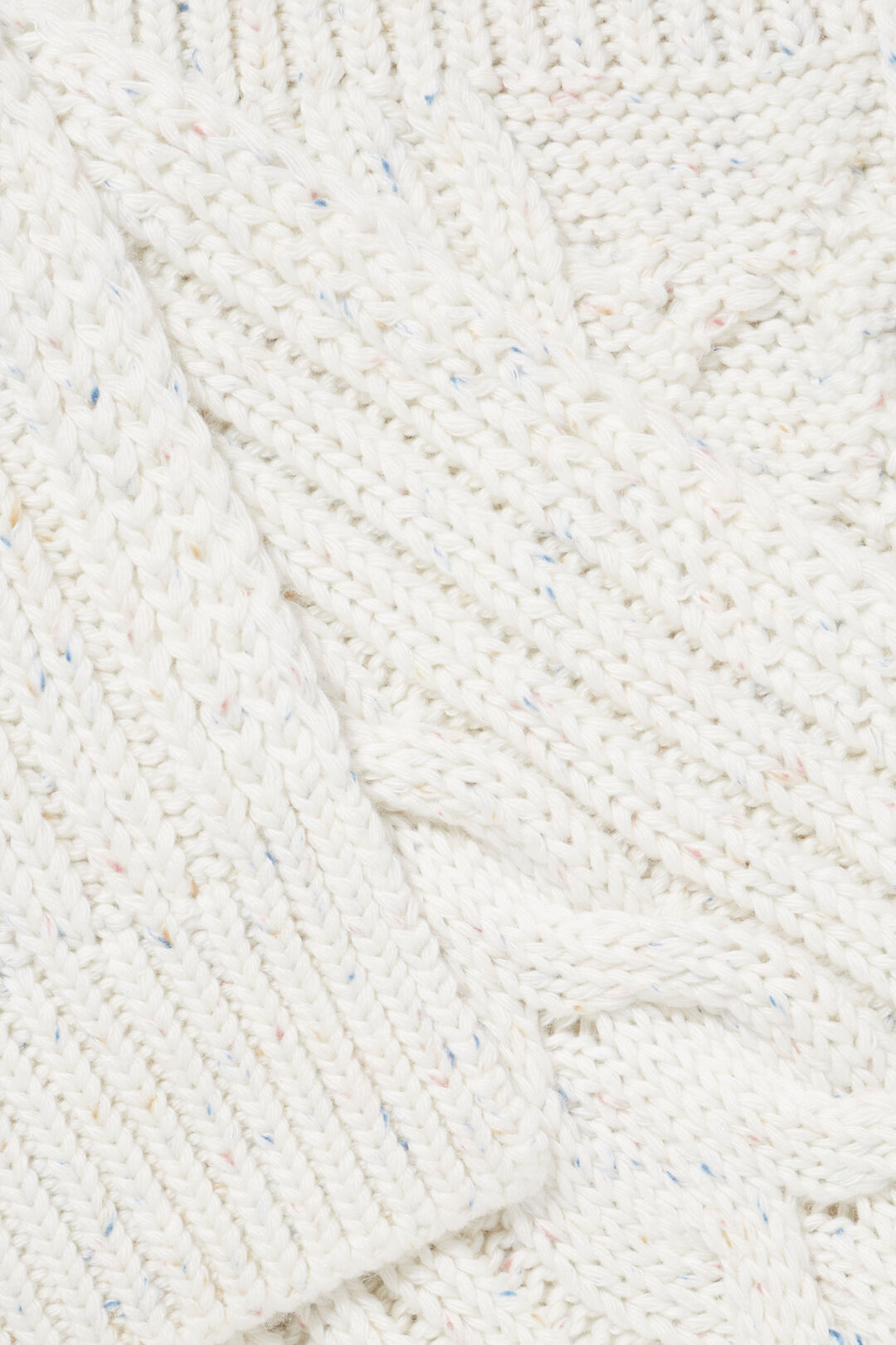 Cable Knit Scarf  FRENCH VANILLA FLECK  hi-res