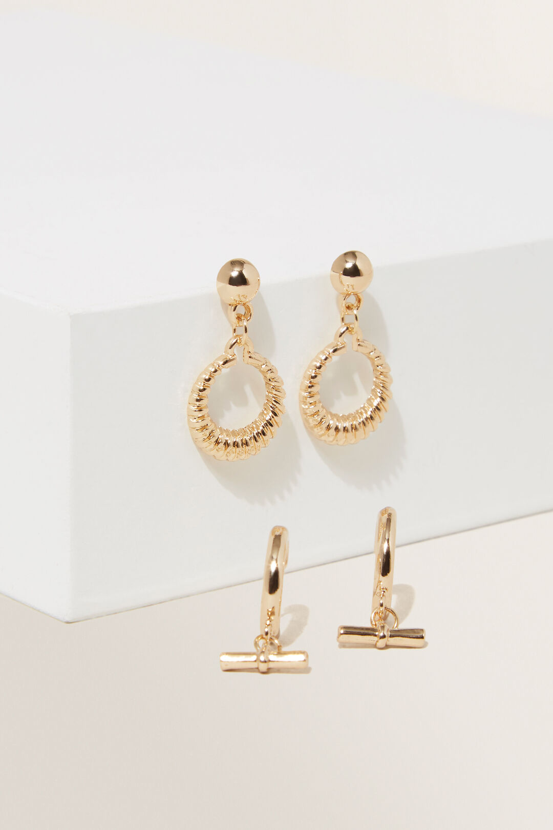 Metail Earring Pack  GOLD  hi-res