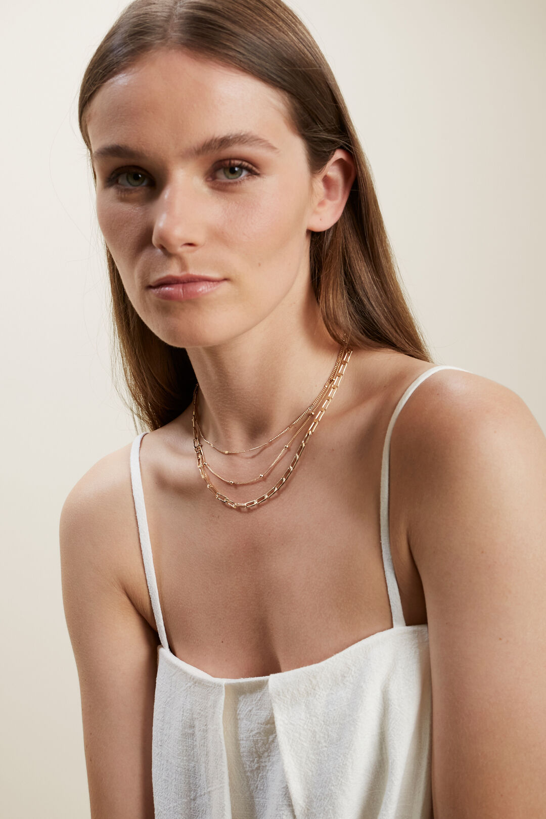 Multi Layer Necklace  GOLD  hi-res