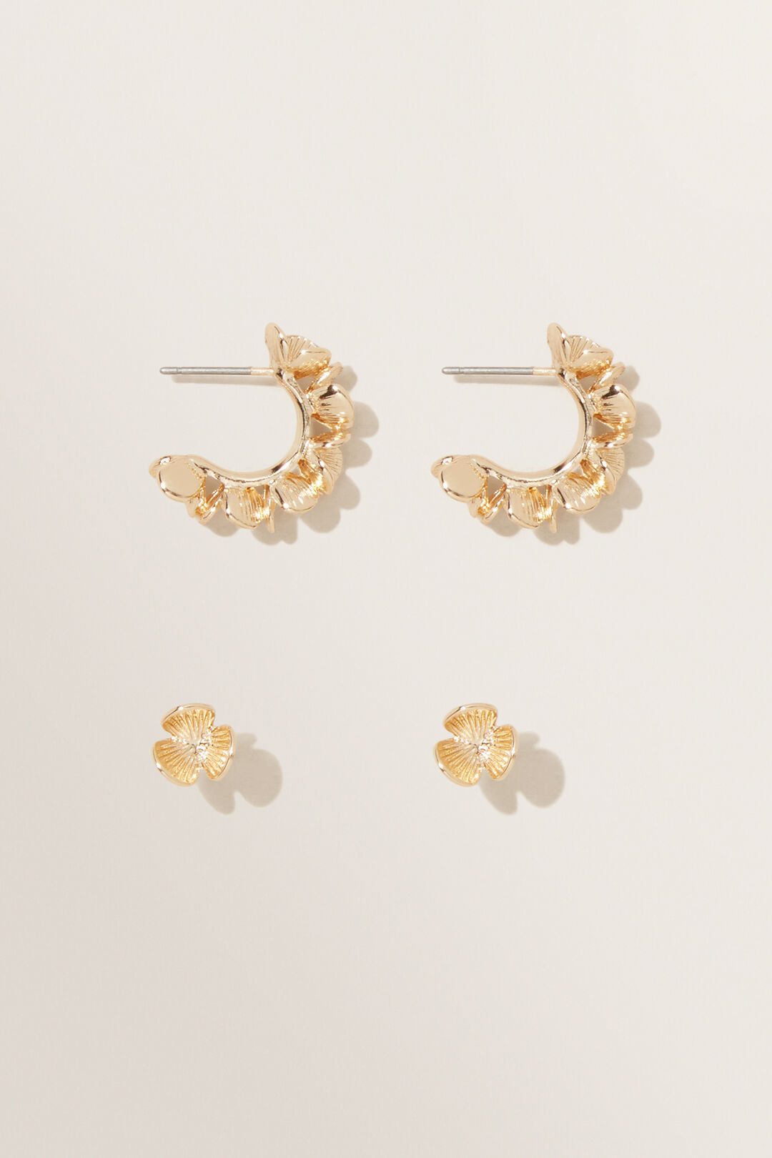 Flower Earring Pack  GOLD  hi-res